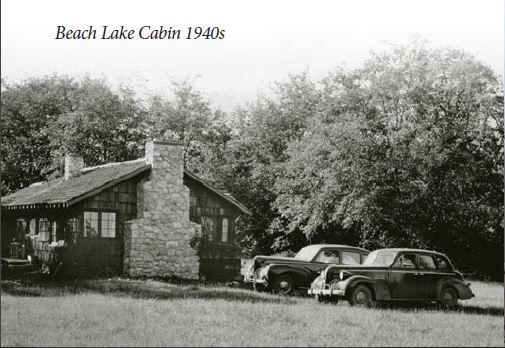 Beach Lake Cabin 1940s